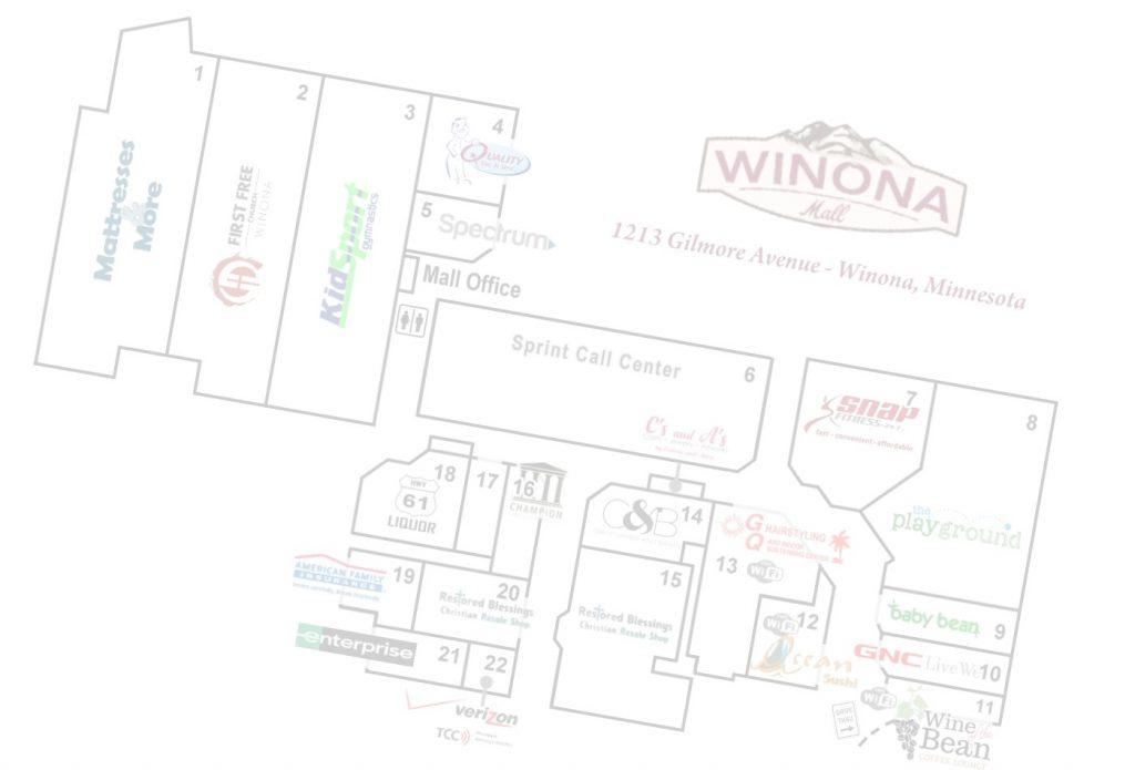 Background Store Map Winona Mall Winona Minnesota